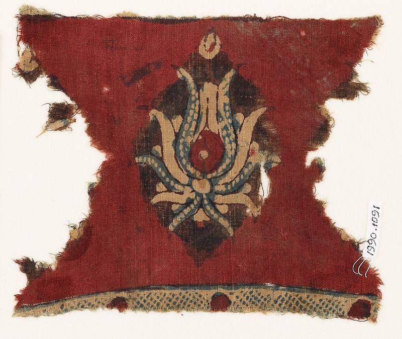 Textile fragment with flower (EA1990.1091, front             )