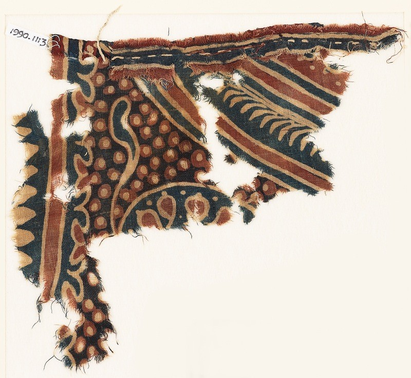 Textile fragment, possibly with part of a large medallion (EA1990.1113, front             )