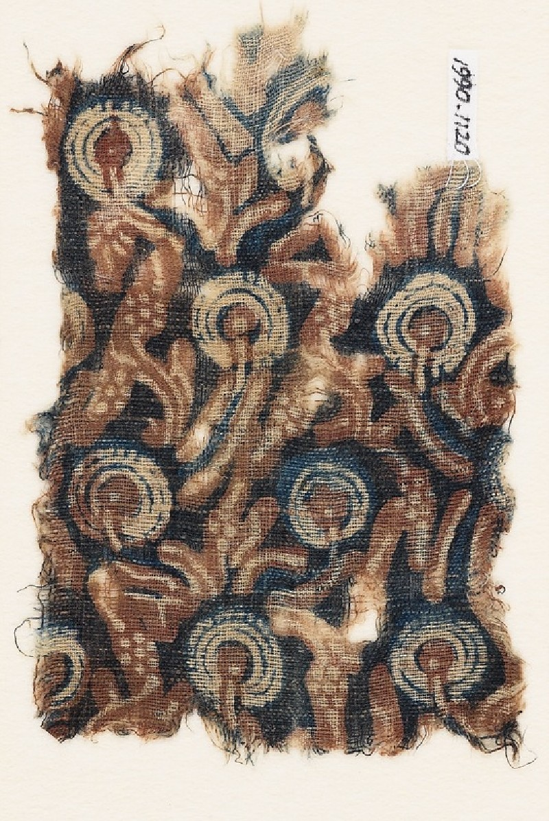 Textile fragment with stylized plants (EA1990.1120, front             )