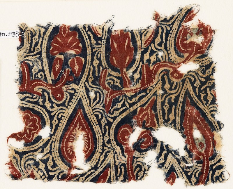 Textile fragment with stylized leaves or trees (EA1990.1133, front             )