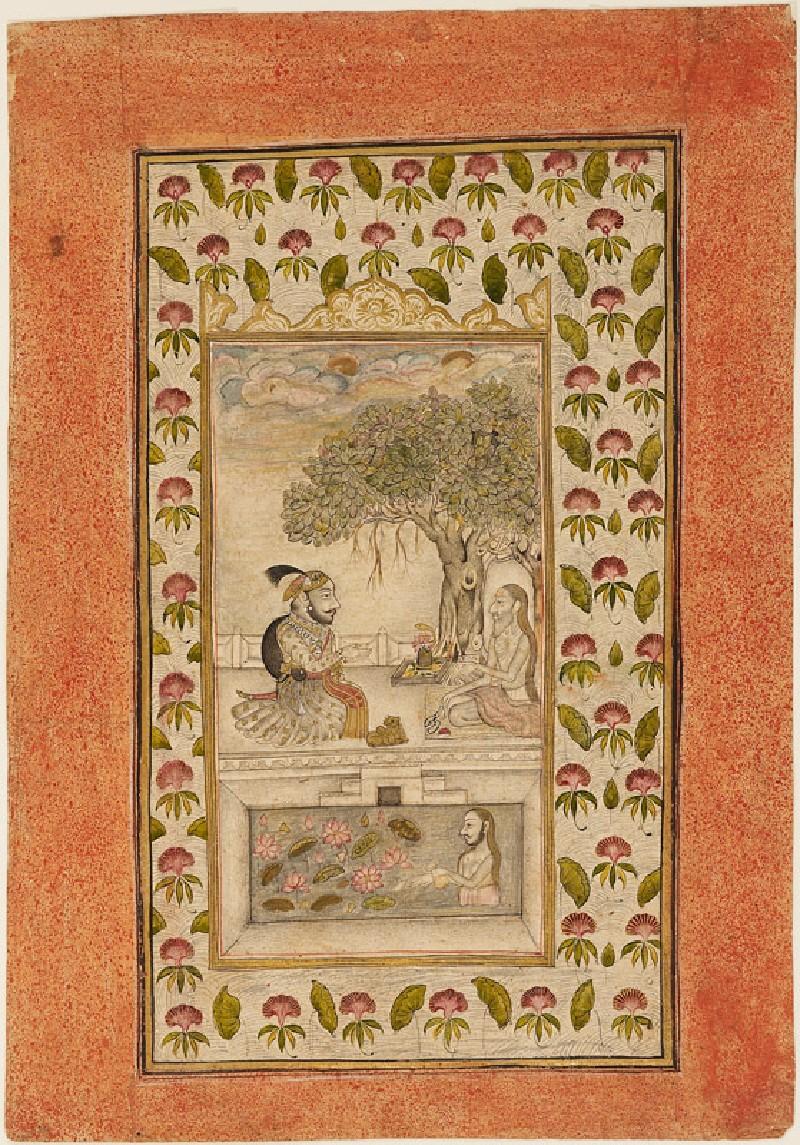 Maharana Sangram Singh II visiting a yogi (EA1990.1281, front             )