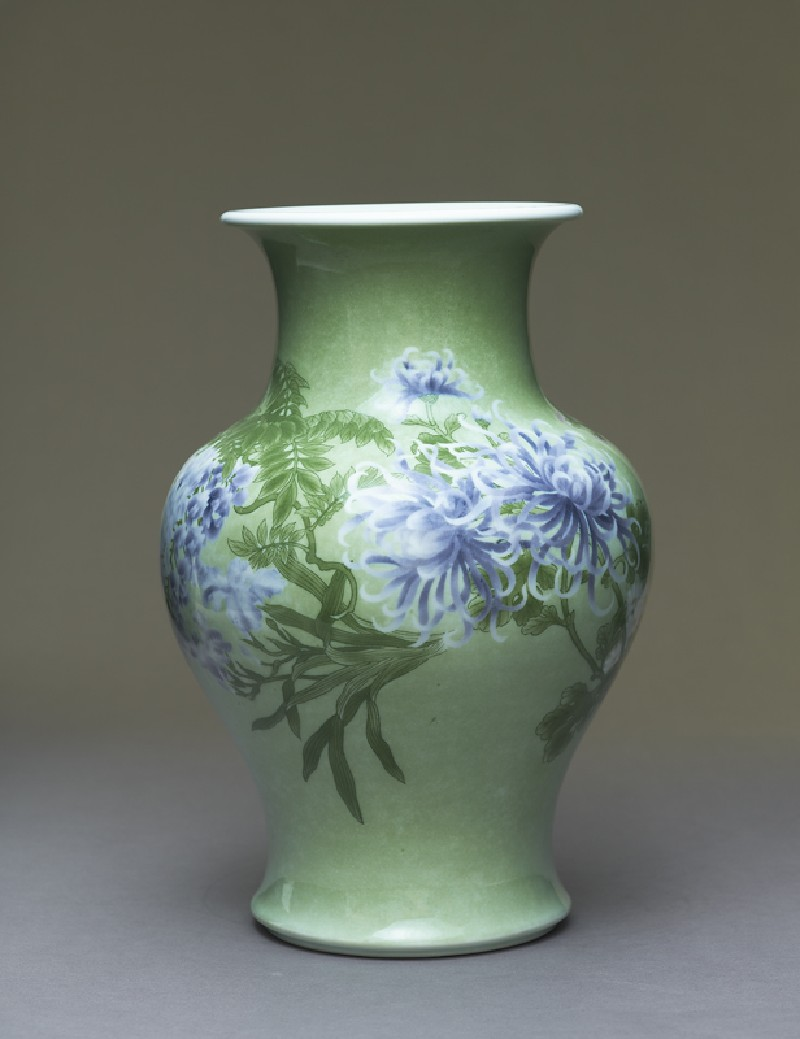 Baluster vase with flowers (EA1991.1, side          )