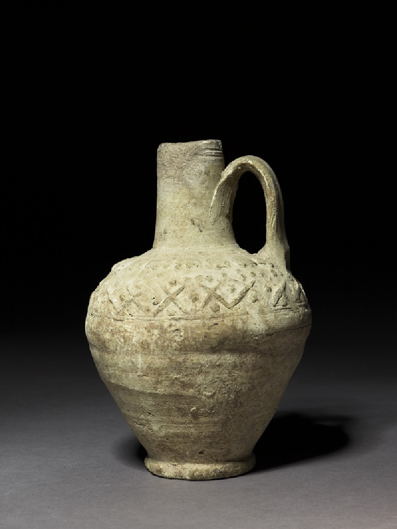 Water jug with geometric decoration