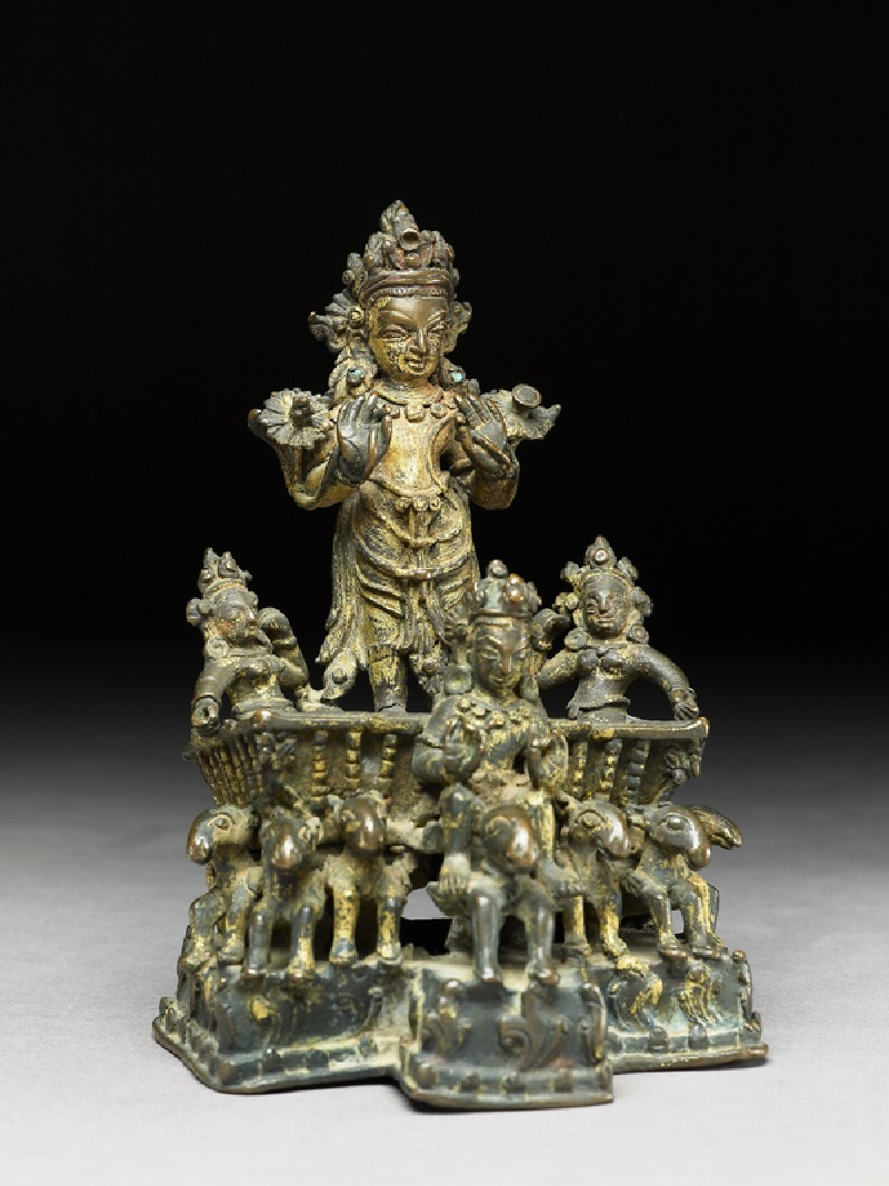 Figure of Surya, the Sun god, in his chariot (EA1991.176, oblique            )