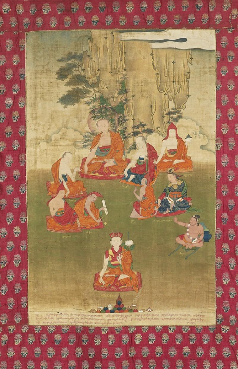 The 8th Tai Situ Lama with nine great teachers