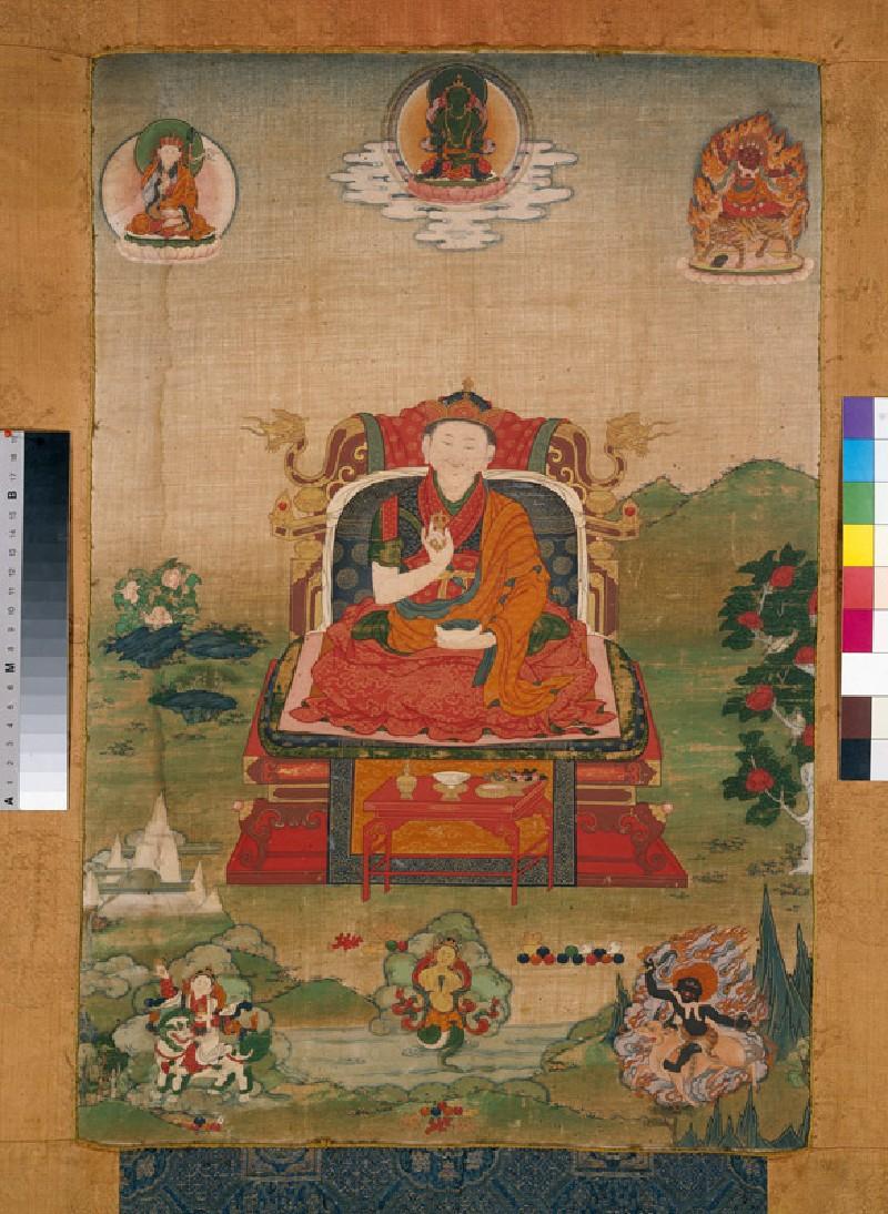 Enthroned grand lama of the Nyingmapa school (EA1991.182, front            )