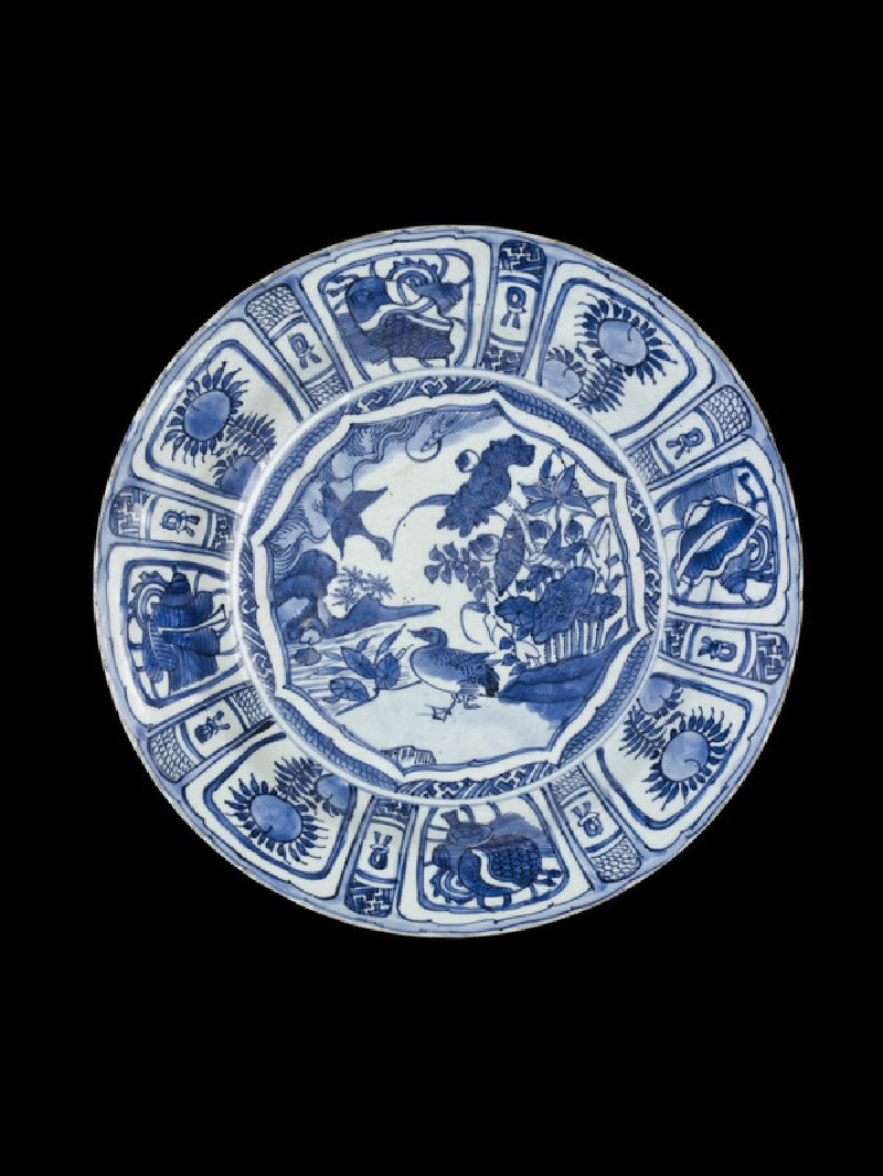 Blue and white foliate dish (EA1991.22)