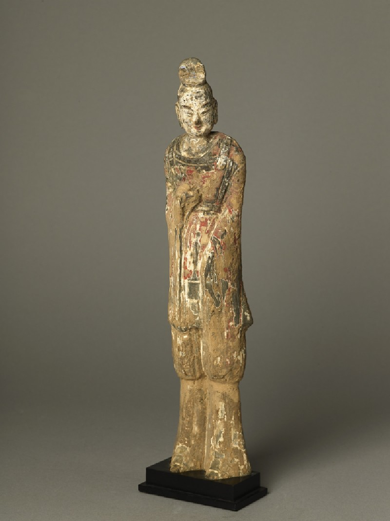 Standing guardian figure (EA1991.63, oblique           )