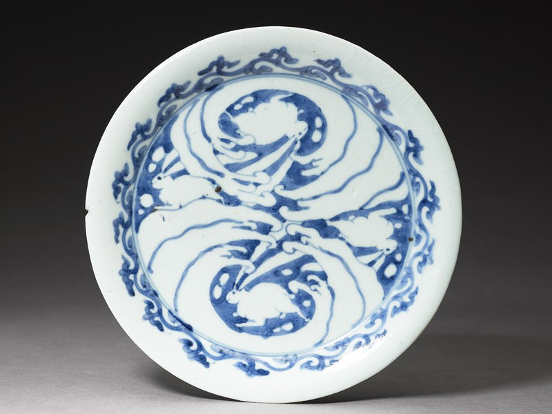 Plate with rabbits and waves (EA1992.69, top           )