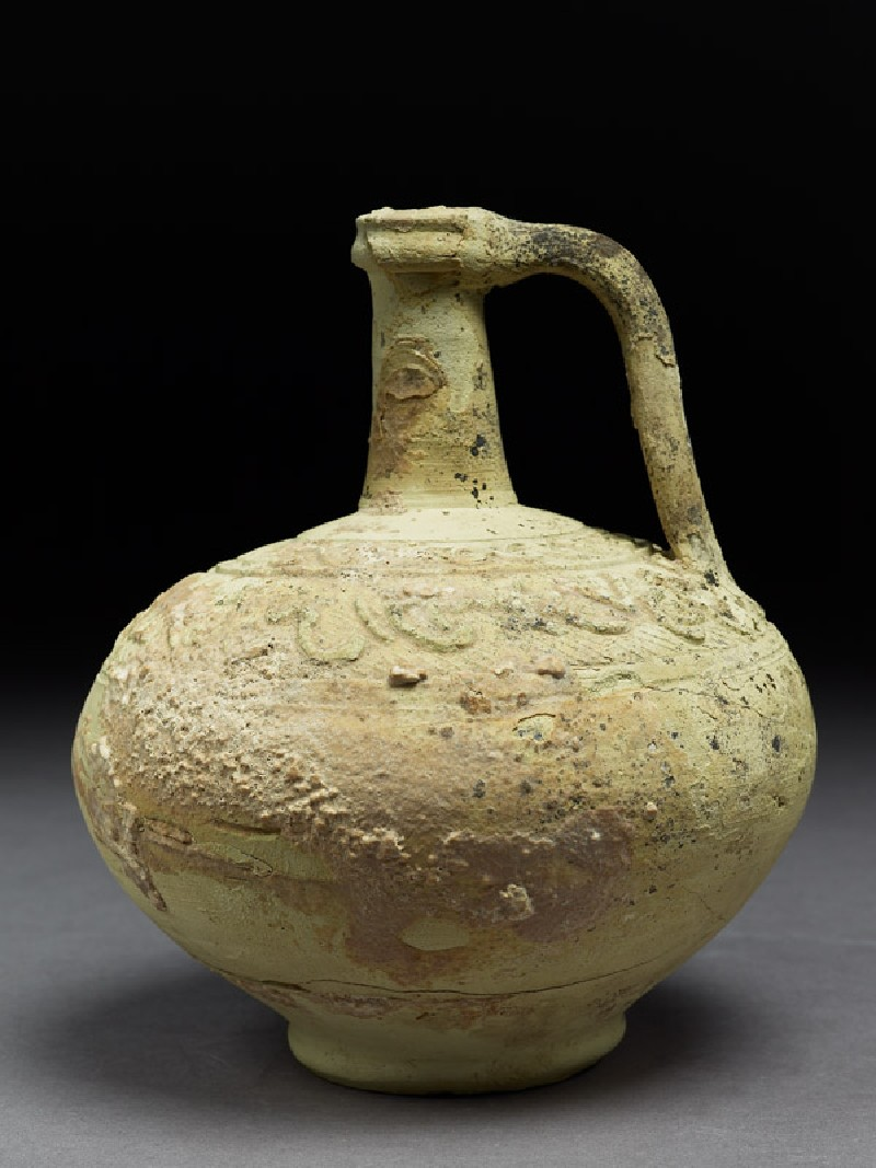 Ewer with inscription (side           )