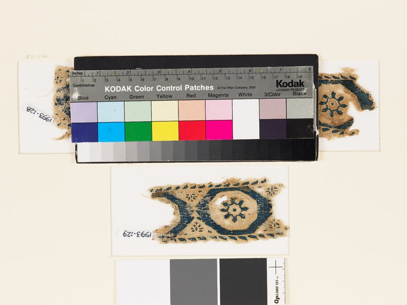 Textile fragment with octagons and rosettes