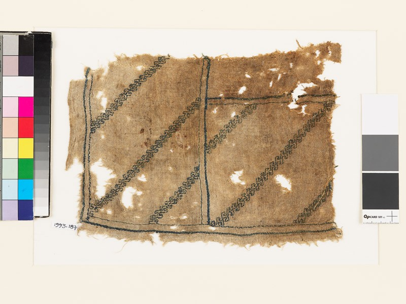 Textile fragment with double wave pattern (EA1993.187, front            )