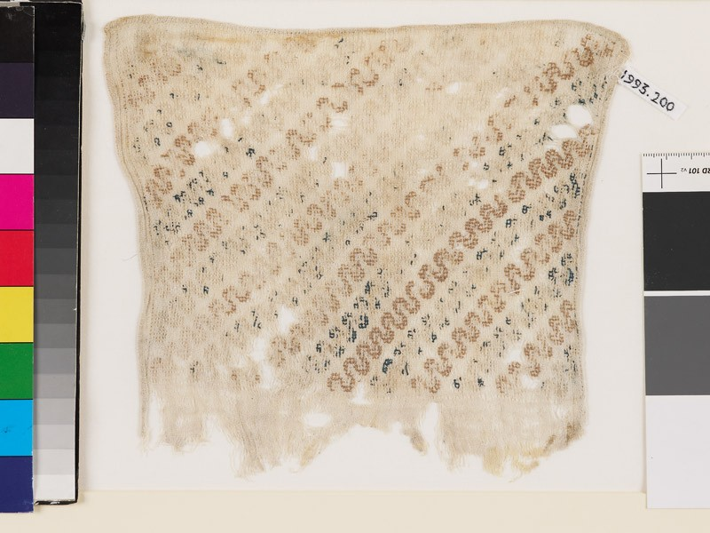 Textile fragment with wave pattern, probably from a sash (EA1993.200, front            )