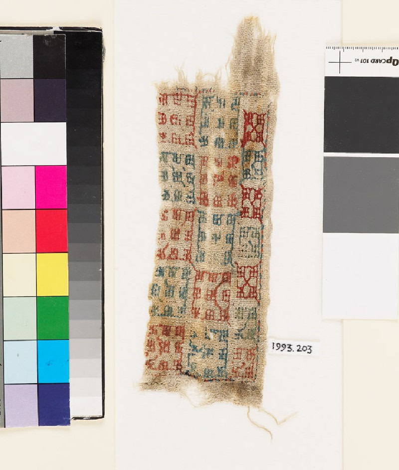 Textile fragment with squares (EA1993.203, front            )