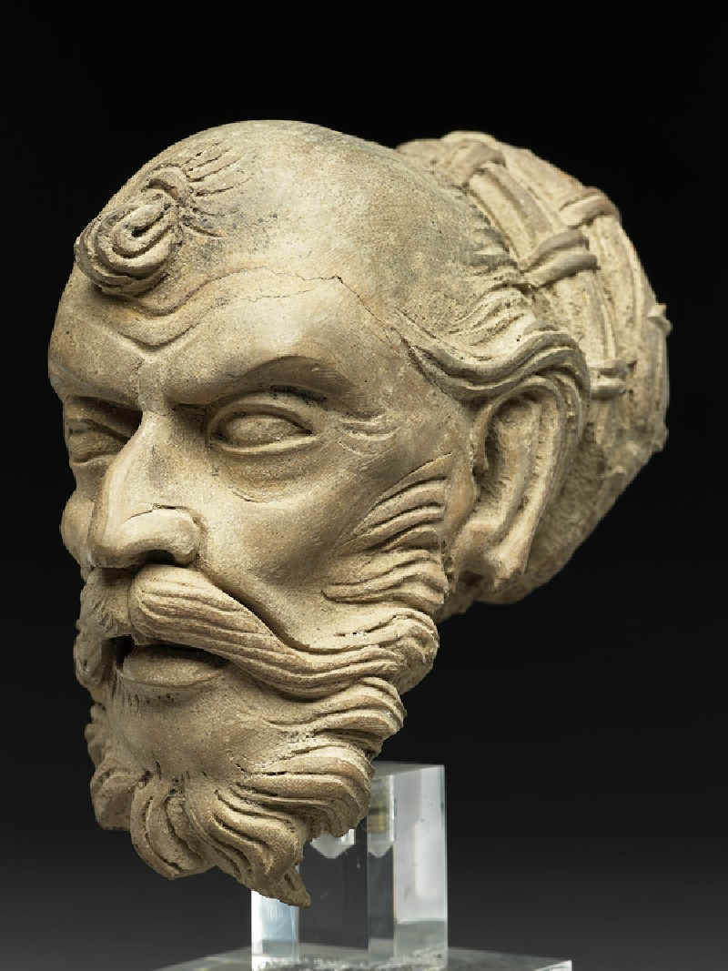 Head of an ascetic (side           )