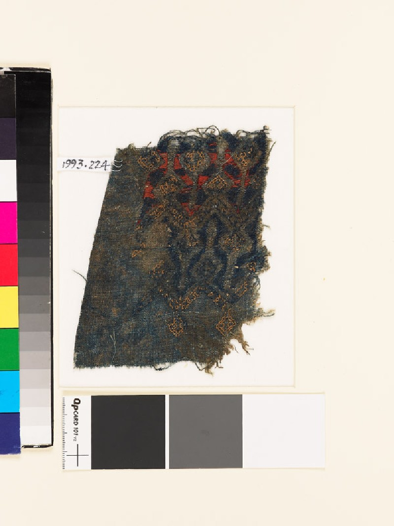 Textile fragment with chevrons and diamond-shapes (EA1993.224, front            )