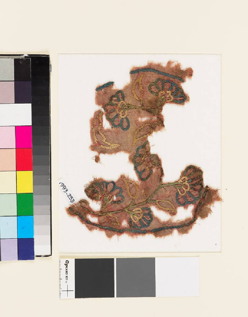 Textile fragment with sprays of flowers and leaves (EA1993.253, front            )