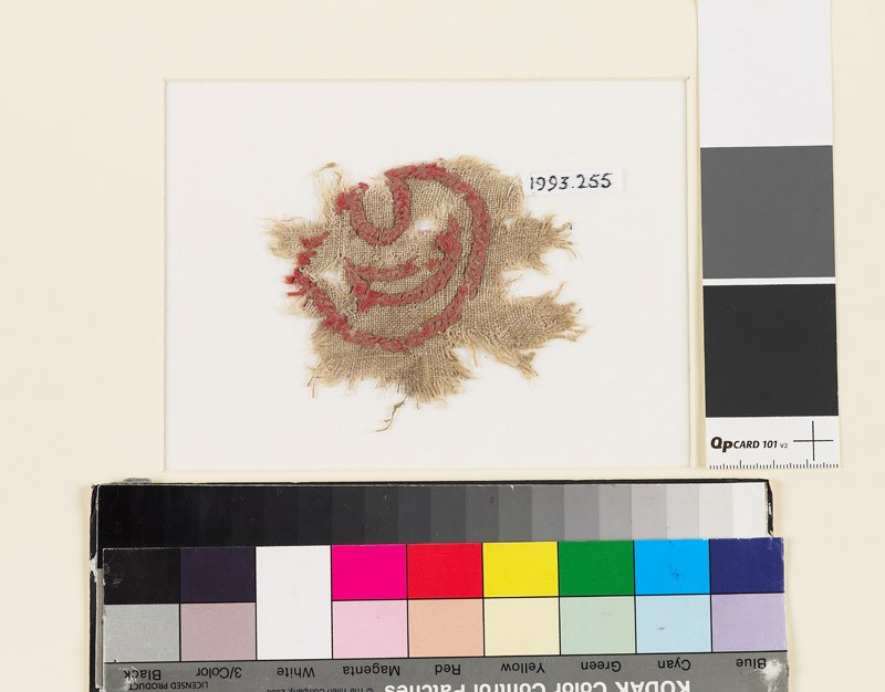 Textile fragment with leaf and crescent (EA1993.255, front            )