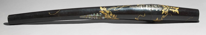 Sword travelling case with wisteria (EA1993.26, oblique           )
