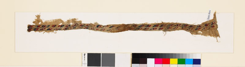 Textile fragment with rhomboids