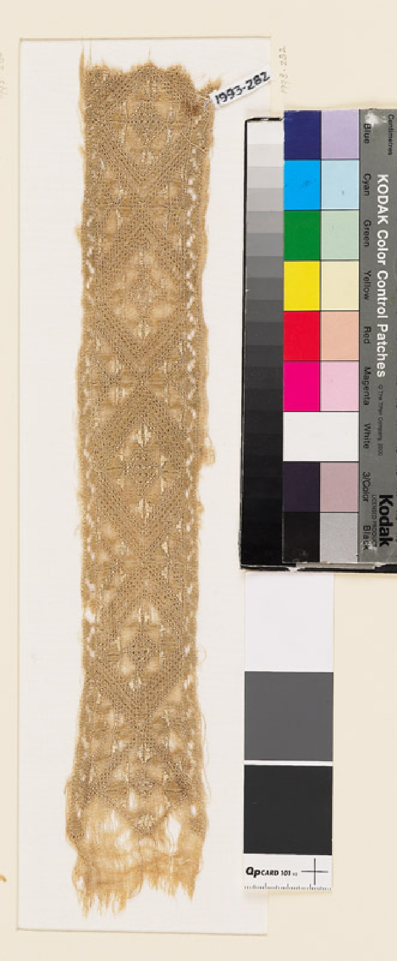 Textile fragment with diamond-shapes (EA1993.282, front            )