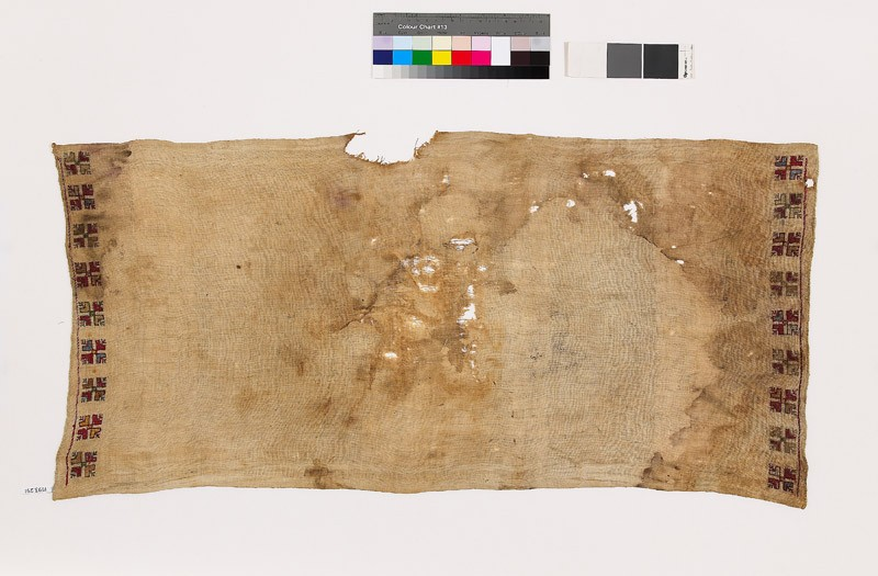 Textile fragment with floral shapes (EA1993.291, front            )