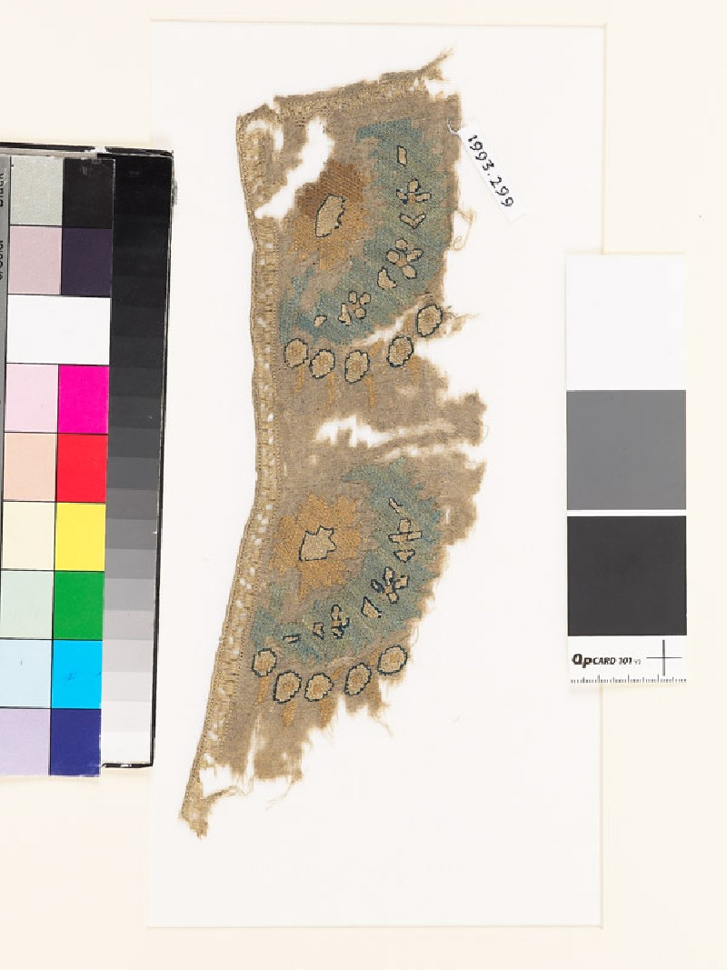 Textile fragment with stylized floral sprays (EA1993.299, front            )