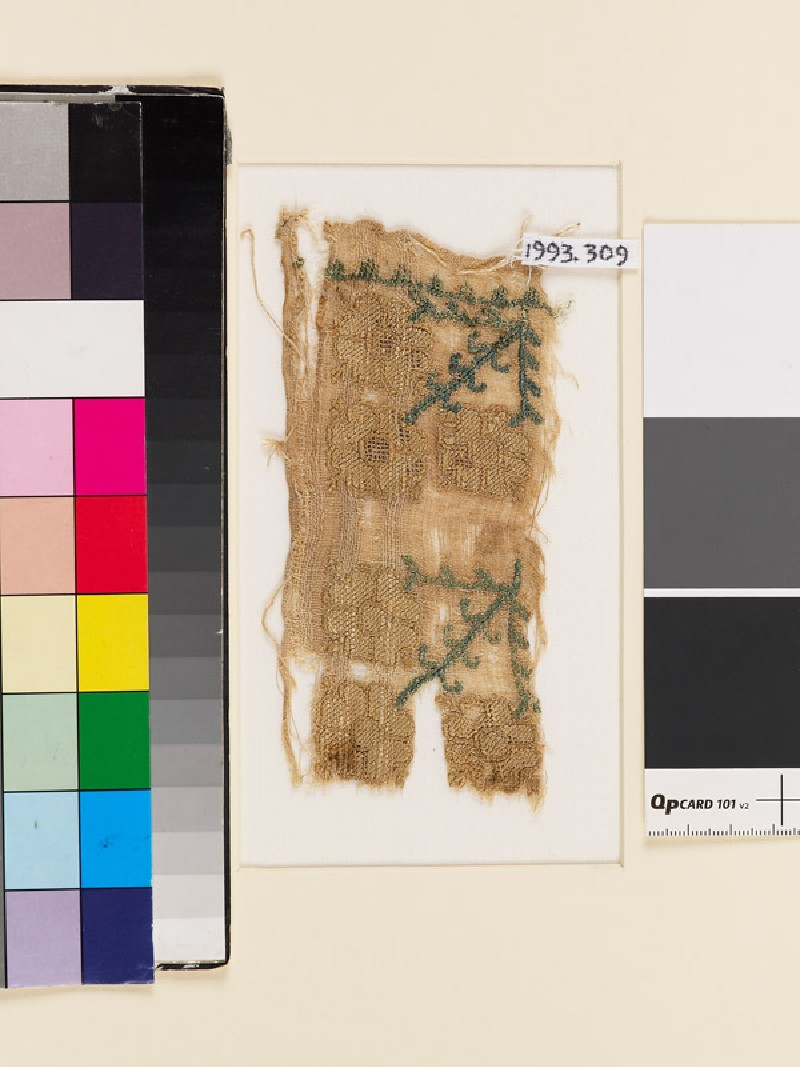 Textile fragment with stylized floral shapes (EA1993.309, front            )