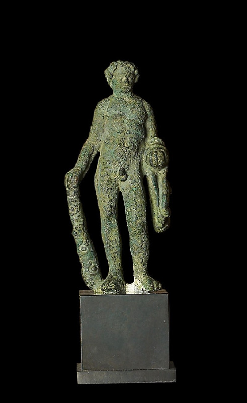 Figure of Heracles with lion-skin and club (front           )