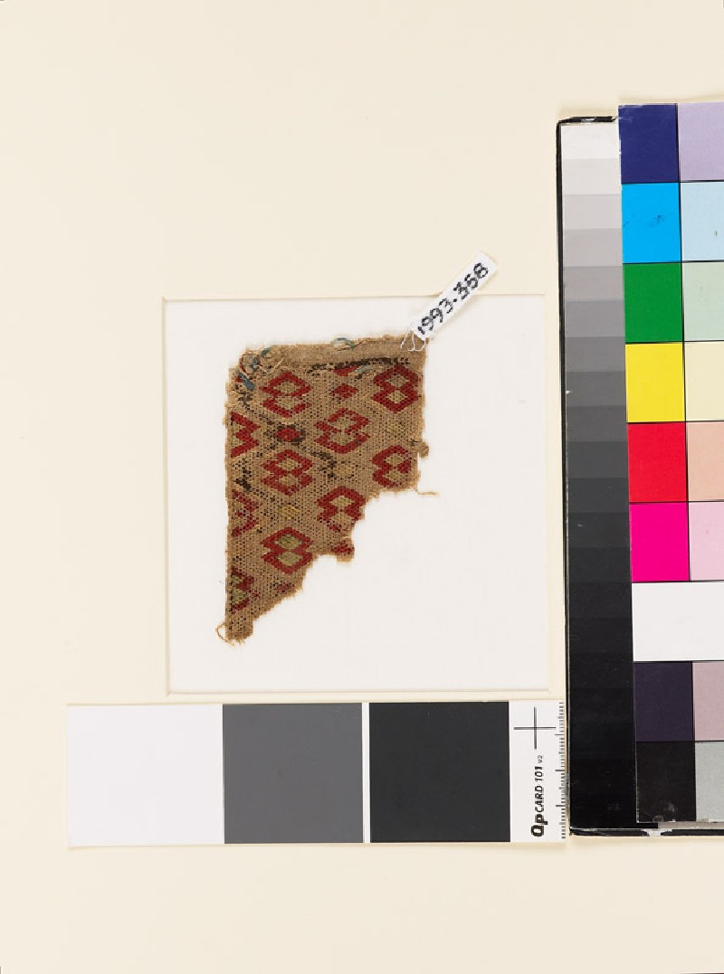 Textile fragment with double and single diamond-shapes (EA1993.358, front            )