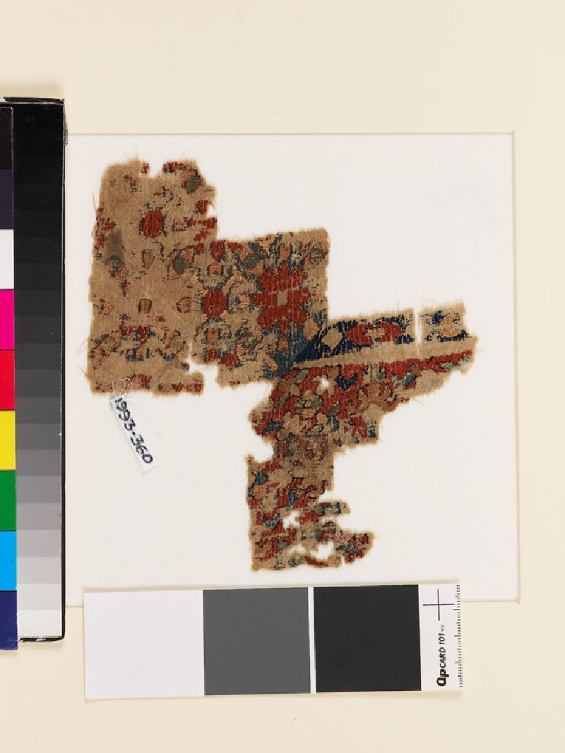 Textile fragment with floral pattern (EA1993.360, front            )