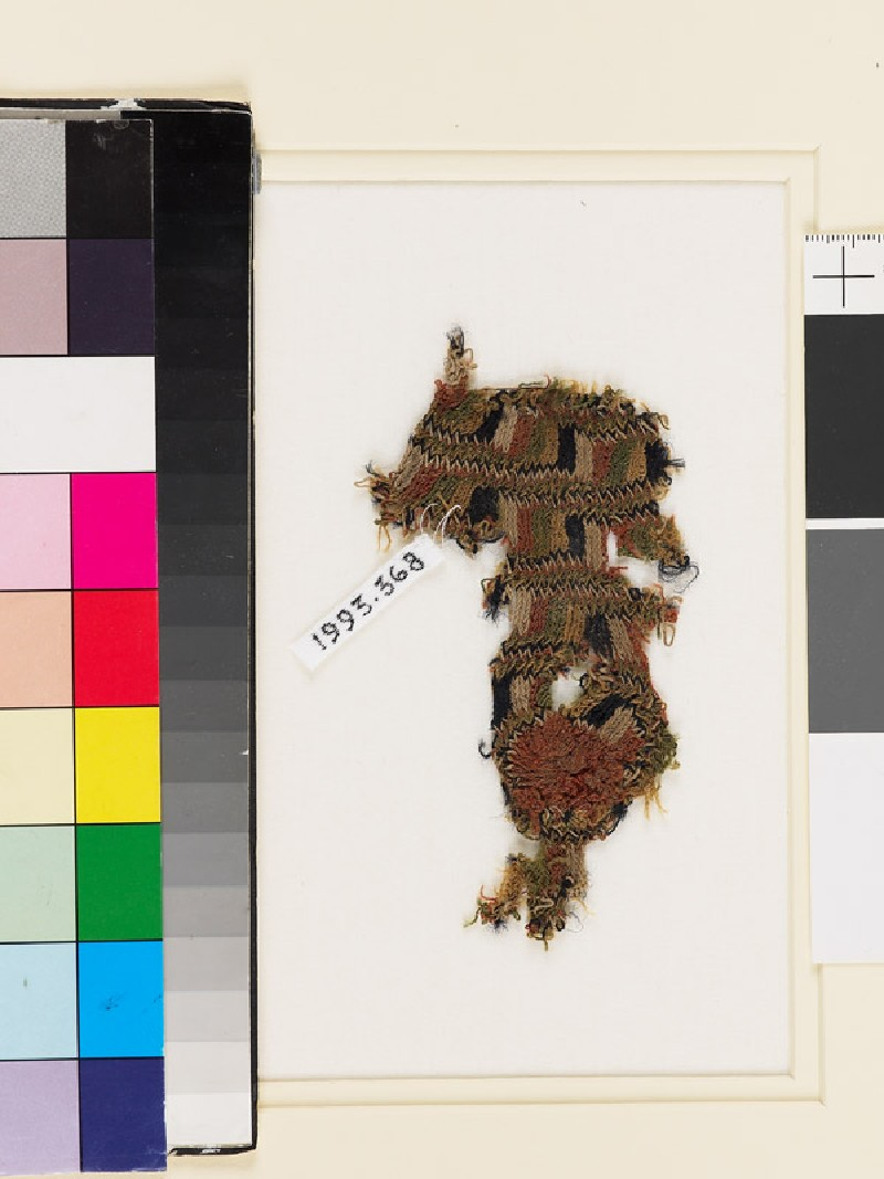 Textile fragment with vertical and horizontal stripes (EA1993.368, front            )
