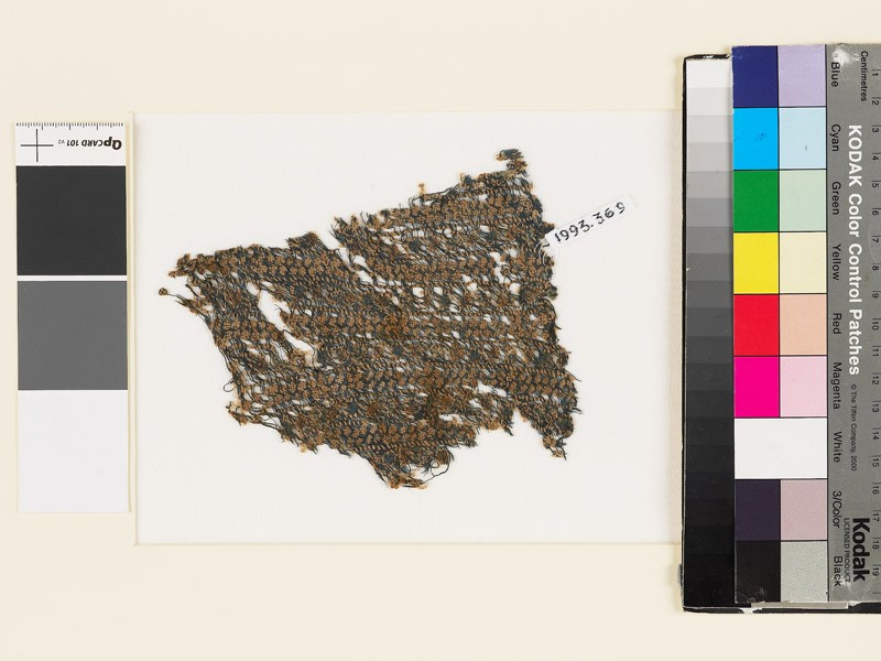Textile fragment with bands of rosettes (EA1993.369, front            )
