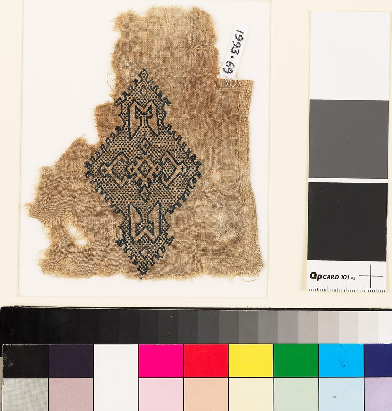 Textile fragment with lozenge-shaped medallion (EA1993.69, front           )