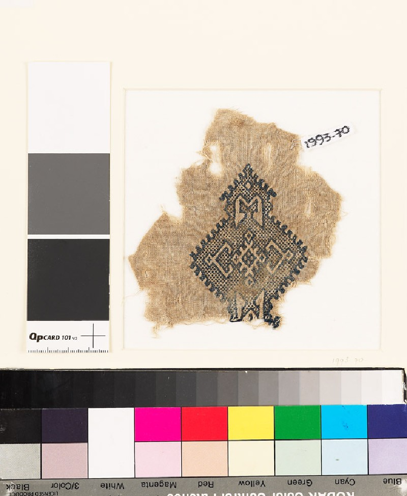 Textile fragment with lozenge-shaped medallion (EA1993.70, front           )
