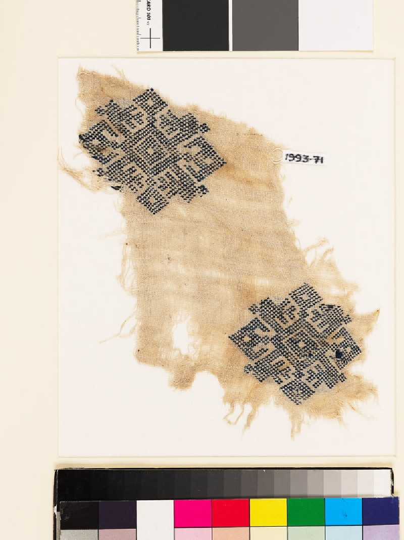 Textile fragment with diamond-shaped medallions (EA1993.71, front           )