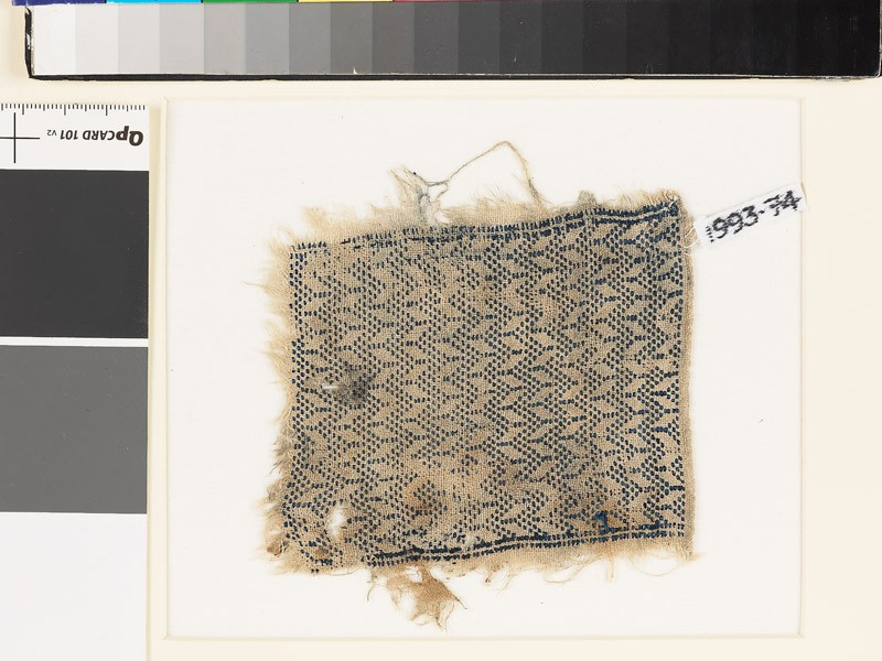 Textile fragment with chevrons (EA1993.74, front           )