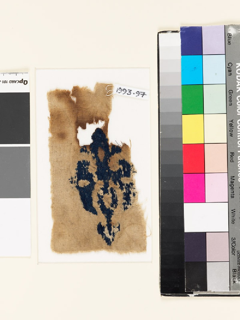 Textile fragment with cross and trefoil finials (EA1993.97, front           )
