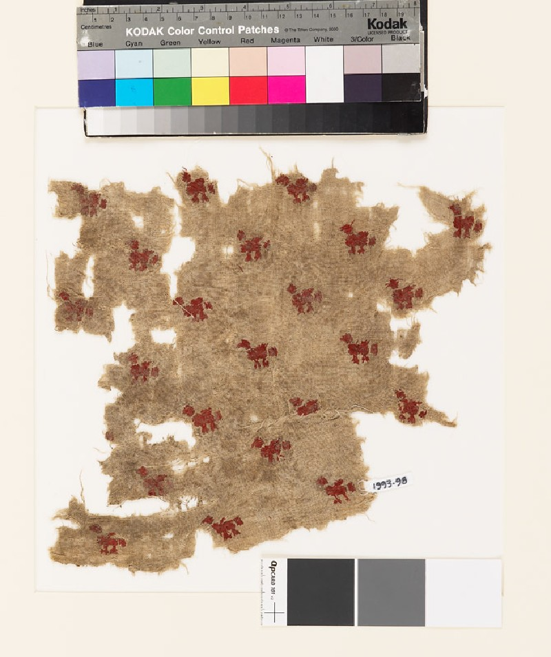 Textile fragment with small birds