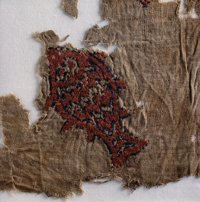 Textile fragment with fish