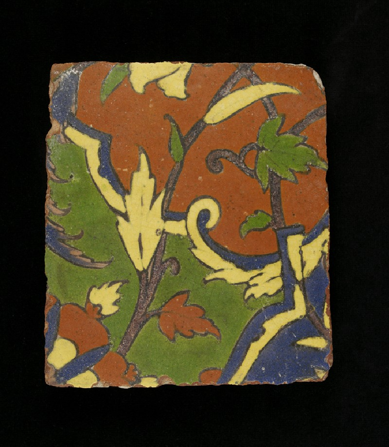 Glazed tile from the tomb of Madin Sahib