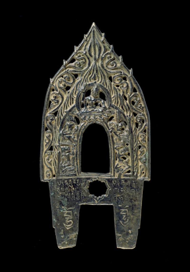 Prabha, or backplate to a Buddhist image (front            )