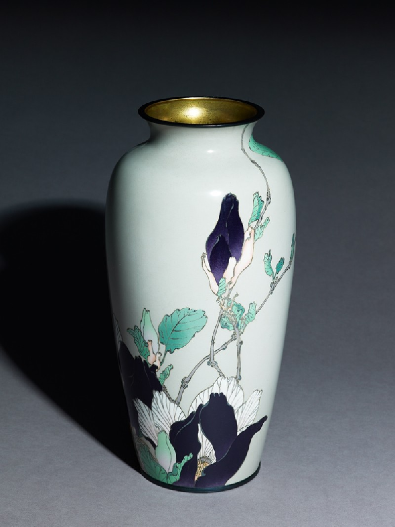 Baluster vase with magnolias (EA1994.127, oblique            )