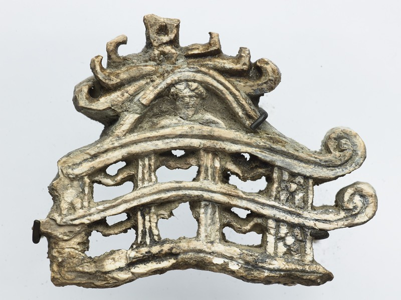 Fragment of a model torana, or gateway to a stupa (EA1994.39, front           )