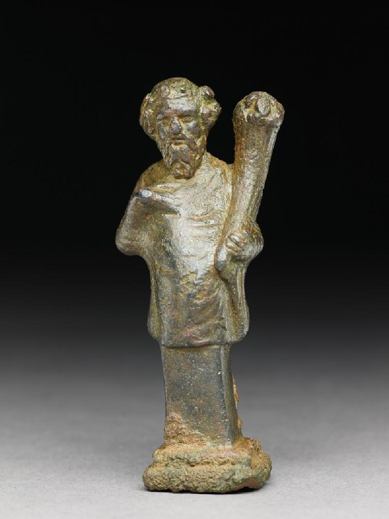 Hip herm of Silenus or a satyr holding a cornucopia (EA1994.47, front           )