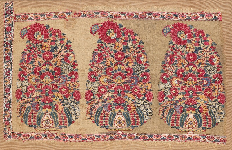 Shawl border fragment with buta (front           )