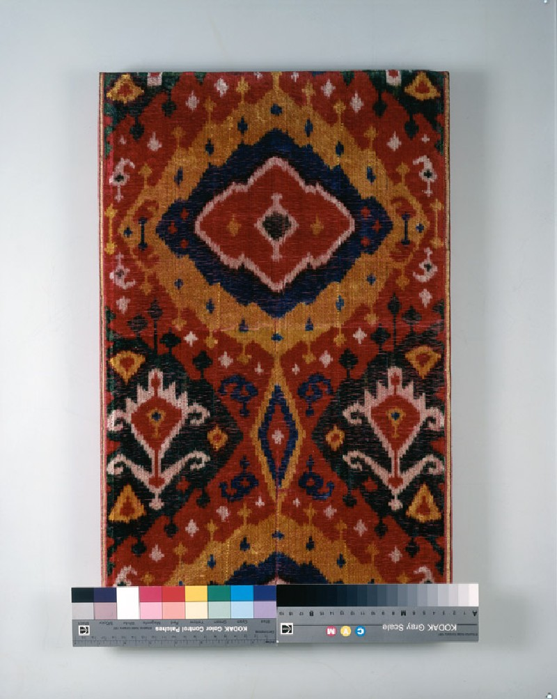 Fragment of ikat velvet