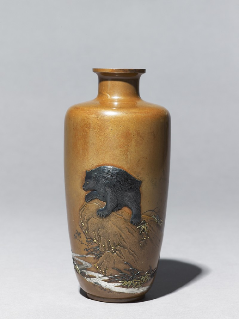 Baluster vase with a bear on a rock (EA1994.65, side           )
