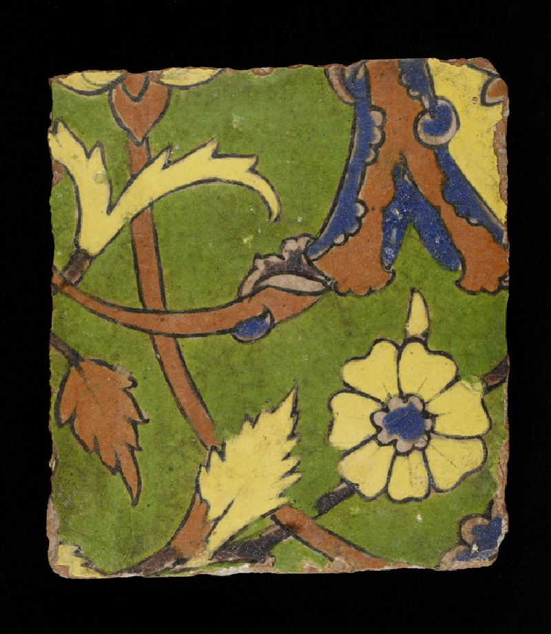 Glazed tile from the tomb of Madin Sahib (front           )