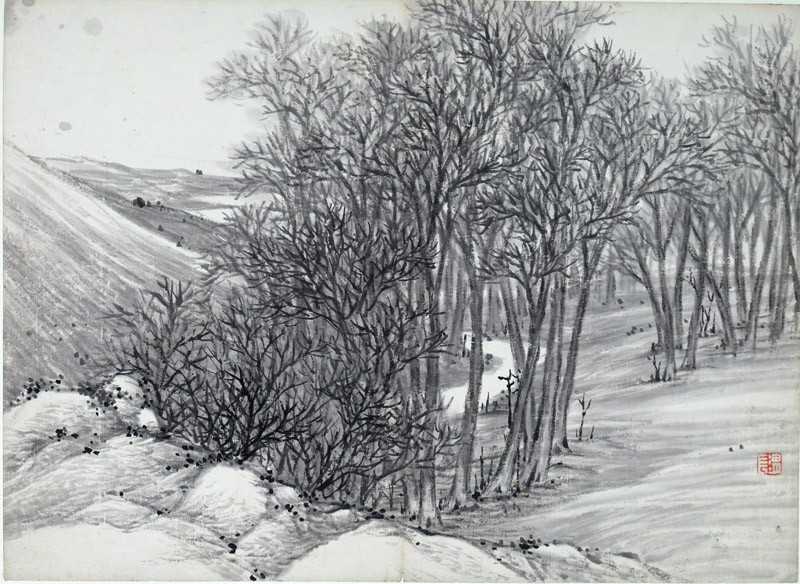 Forest in winter (EA1995.236.i, front              )